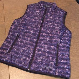 EDDIE BAUER Purple Down Filled Puffer Vest Jacket